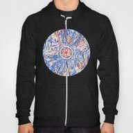 Boho Flower Burst In Red… Hoody