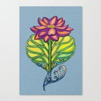 Lotus in Love Canvas Print