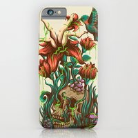 iPhone Cases featuring flower by rururara