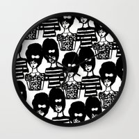 Bouffant Girls Wall Clock