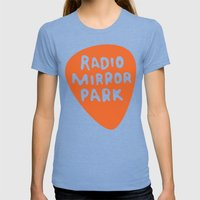 Radio Mirror Park Womens Fitted Tee Tri-Blue SMALL