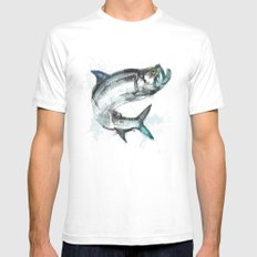 Tarpon Fish White Mens Fitted Tee SMALL