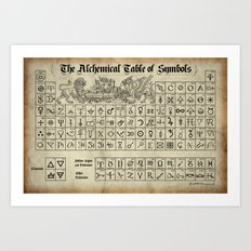 The Alchemical Table Of … Art Print