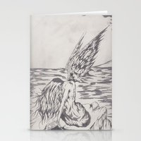 angel on rocks Stationery Cards
