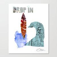 Drop In Canvas Print