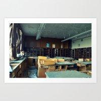 Empty Science Lab Art Print