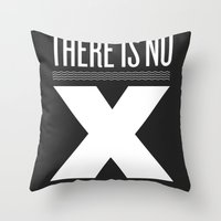 No X in Espresso – Dark Grey Throw Pillow