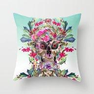Momento Mori Floral Throw Pillow
