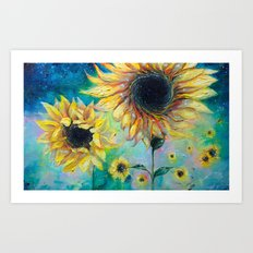 Supermassive Sunflowers Art Print