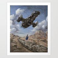The Time Job - Firefly +… Art Print