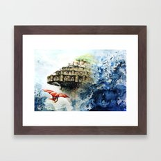 Tribute to Ghibli : Laputa Framed Art Print