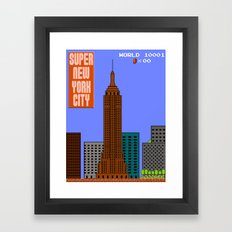 Super New York City Framed Art Print