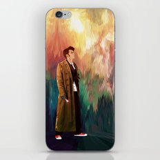 The 10th Doctor who with abstract background iPhone 4 4s 5 5c 6, pillow case, mugs and tshirt iPhone & iPod Skin