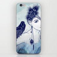 Parrot Girl iPhone & iPod Skin