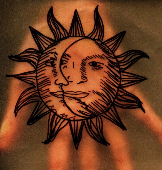 Sun Hand. Art Print