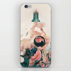Watermelon&Black cock iPhone & iPod Skin
