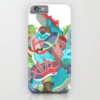iPhone & iPod Case featuring Tons of Shoes by Mike Laughead