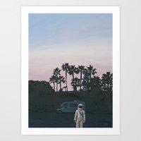 RV Dusk Art Print