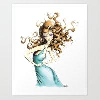 Fashion Goddess Art Print