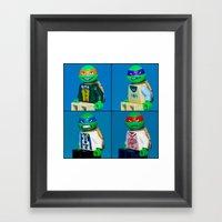 Dorky Teenage Yearbook Turtles Framed Art Print