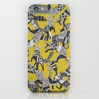 woodland fox party ochre yellow iPhone 6 Slim Case
