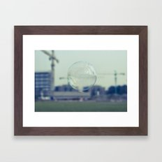 city bubble Framed Art Print