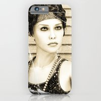 iPhone & iPod Case featuring Vintage Girl by Design Windmill