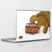 Laptop & iPad Skin featuring Roman turtle formation by Koenu