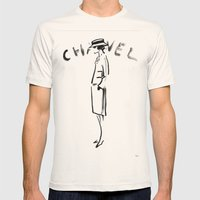COCO SILHOUETTE - KARL LAGERFELD Mens Fitted Tee Natural SMALL