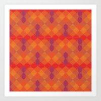 Plaid Checkers I Art Print