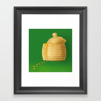 Dip Into The Honey Jar -… Framed Art Print