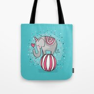 Tote Bag featuring CIRCUS ELEPHANT by Matthew Taylor Wilso…