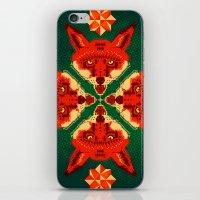 Fox Cross Geometric Patt… iPhone & iPod Skin