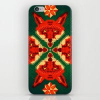 Fox Cross Geometric Patt… iPhone & iPod Skin
