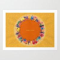 Planet Eleven Art Print