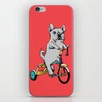 Frenchie Ride iPhone & iPod Skin