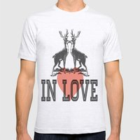 In Love  Mens Fitted Tee Ash Grey SMALL