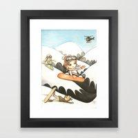 Snowboarders Framed Art Print