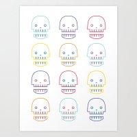 Robo Skull Art Print