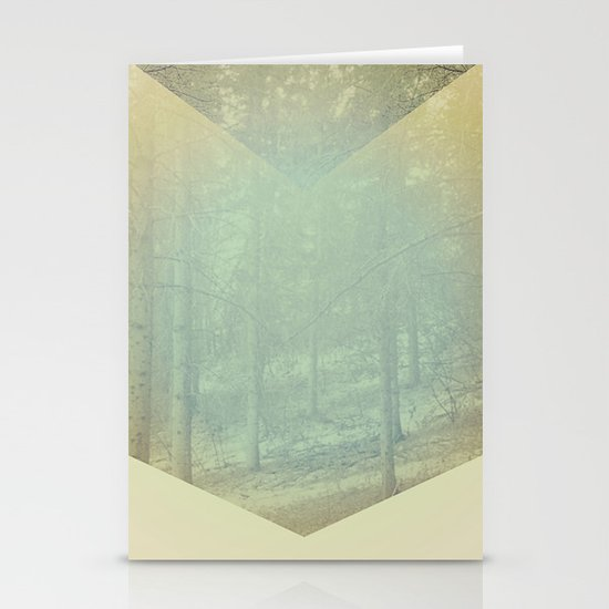 Chevron Forest Stationery Card