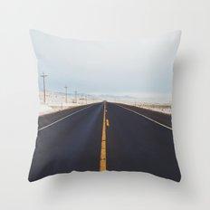 Endless Road Throw Pillow