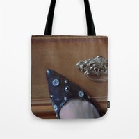 Rhinestoned Right Shoe Tote Bag