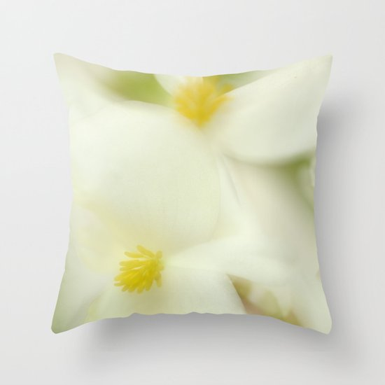 the dance of the flowers Throw Pillow