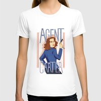 Agent Carter Womens Fitted Tee White SMALL