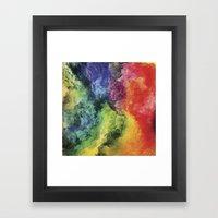 Rainbow Tie Dye Watercolor Framed Art Print