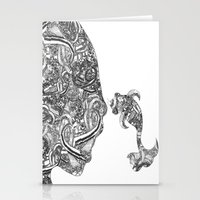 Homme Poisson B&W Stationery Cards