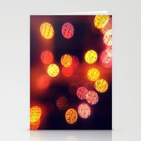 Orange Lights Stationery Cards