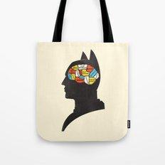 Bat Phrenology Tote Bag