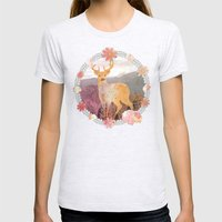 FLORA & FAUNA Womens Fitted Tee Ash Grey SMALL