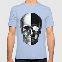 The Skull Mens Fitted Tee Tri-Blue SMALL
